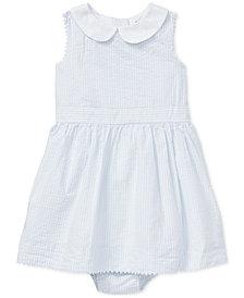 Ralph Lauren Cotton Seersucker Dress & Bloomer, Baby Girls