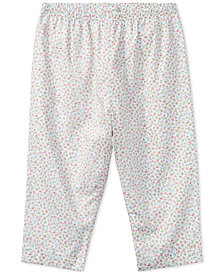 Ralph Lauren Floral Cotton Pull-Up Pants, Baby Girls