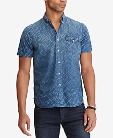 Polo Ralph Lauren Men's Classic-Fit Star Micro-Print Shirt