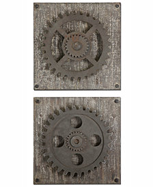 Uttermost Rustic Gears 2-Pc. Wall Art Set