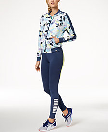 Puma Printed Track Jacket & Logo Leggings