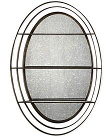 Carine Antique Mirrored Wall Shelf