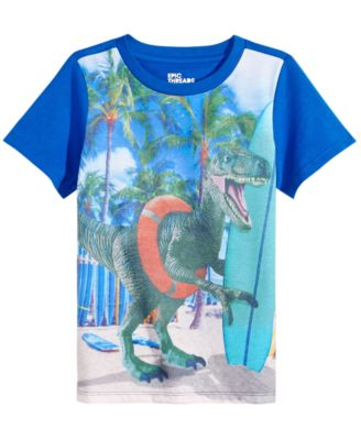 Toddler Boys Dino-Print T-Shirt, Created for Macy's