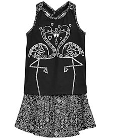 Epic Threads Little Girls Flamingo Tank Top & Skirt, Created for Macy's