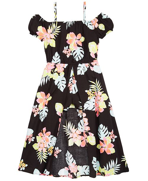 be795cf69e33 ... Epic Threads Toddler Girls Floral-Print Maxi-Overlay Romper