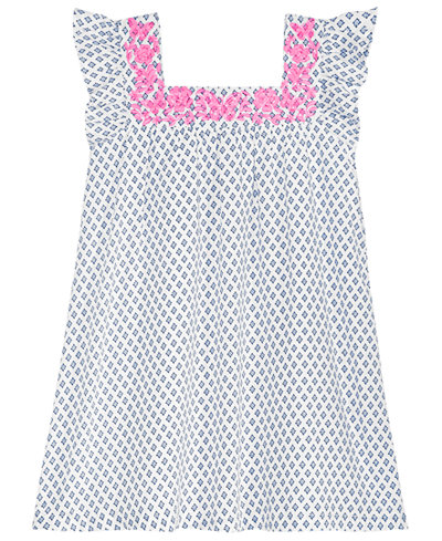 Epic Threads Toddler Girls Embroidered-Neck Peasant Dress, Created for Macy's