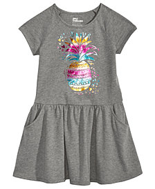 Epic Threads Little Girls Pineapple-Print Drop-Waist Dress, Created for Macy's