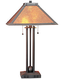Cal Lighting Table Lamp with Mica Shade