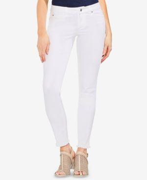 Vince Camuto Frayed-Hem Skinny Jeans 6190076