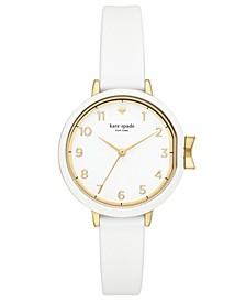 Women's Park Row White Silicone Strap Watch 34mm