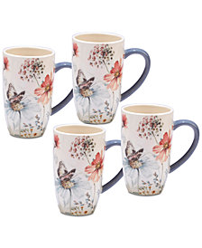 Certified International 4-Pc. Country Weekend Mugs Set