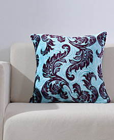 "Berkshire Bold Blooms VelvetLoft® 18"" Square Decorative Pillow"