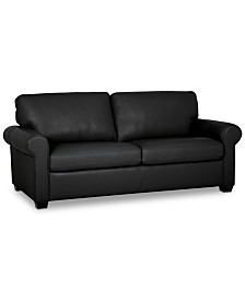 "Orid 79"" Leather Apartment Sofa, Created for Macy's"