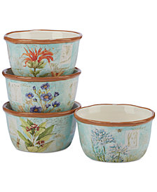 Certified International Herb Blossom Ice Cream Bowls, Set of 4
