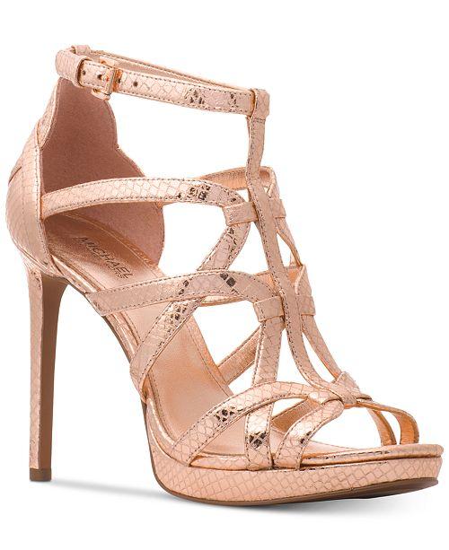 9fa81dd2c55 Michael Kors Sandra Platform Caged Dress Sandals   Reviews ...