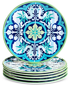 Certified International Granada Set of 6 Salad Plates