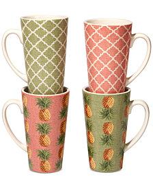 Certified International Floridian Latte Mugs, Set of 4