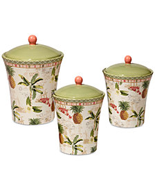 Certified International Floridian Canisters, Set of 3