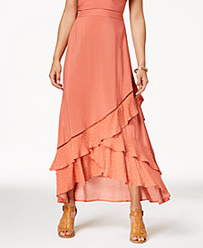 Love, Fire Juniors' Ruffled High-Low Maxi Skirt