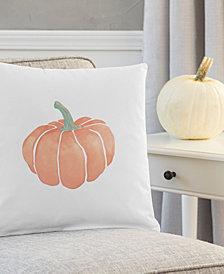 """Cathy's Concepts Harvest Pumpkin 16"""" Square Decorative Pillow"""