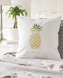 "Cathy's Concepts Pineapple 16"" Square Decorative Pillow"