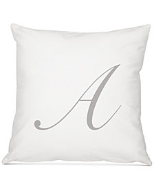 "Cathy's Concepts Personalized Script Initial 16"" Square Decorative Pillow"