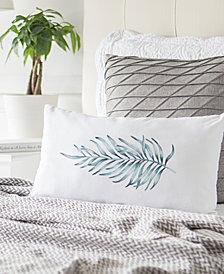 "Cathy's Concepts Palm-Print 9"" x 18"" Lumbar Decorative Pillow"