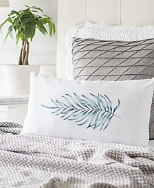 "Cathy's Concepts Palm-Print 9"" x 18"" Lumbar Decorative Pillow"