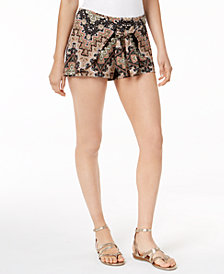 Ultraflirt By Ikeddi Printed Tie-Front Shorts