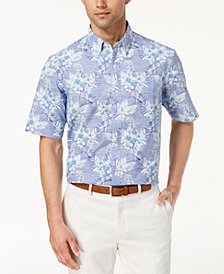 Club Room Men's Hibiscus Printed Shirt, Created for Macy's
