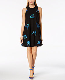 Calvin Klein Embroidered Trapeze Dress