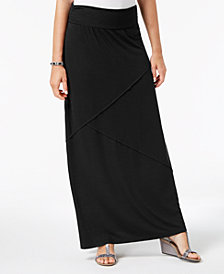 Style & Co Petite Pieced Maxi Skirt, Created for Macy's
