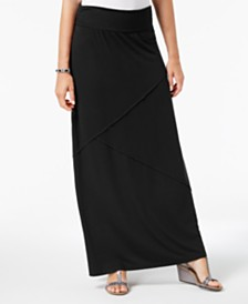 Style & Co Comfort-Waist Maxi-Skirt, Created for Macy's