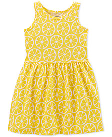 Carter's Little Girls Lemon-Print Cotton Tank Dress
