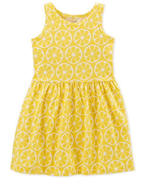 5dc9274d1 Carter s Little Girls Lemon-Print Cotton Tank Dress   Reviews ...
