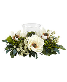 Nearly Natural Artificial Magnolia Floral Candelabrum