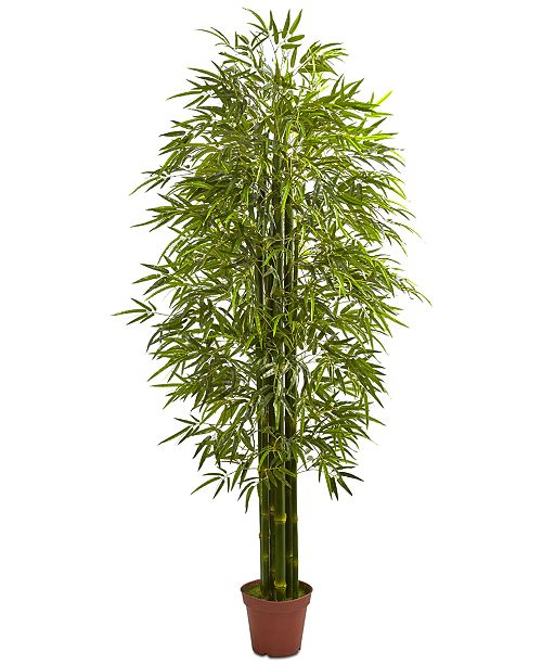Nearly Natural 7' Indoor/Outdoor UV-Resistant Artificial Bamboo Tree