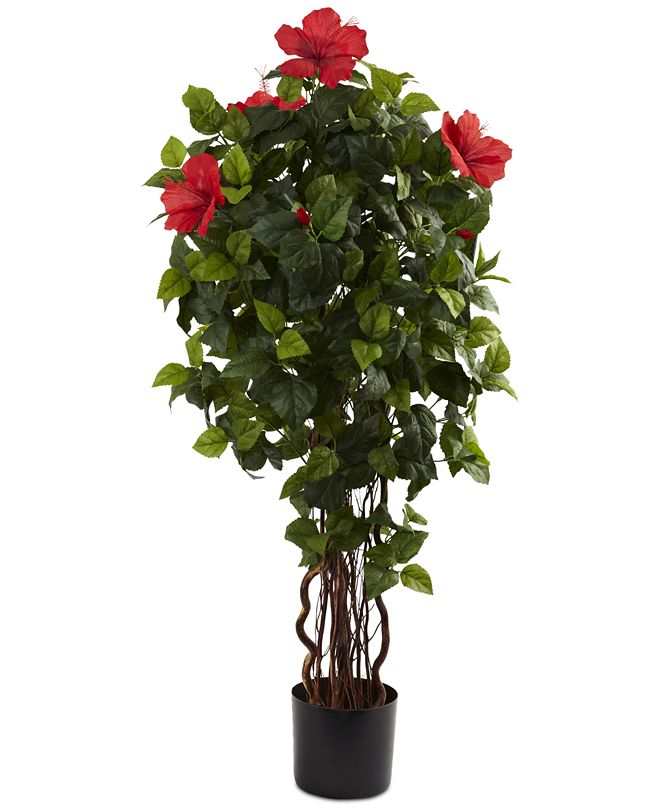 Nearly Natural 4' Artificial Hibiscus Tree