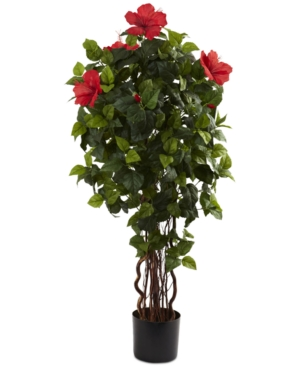 Nearly Natural 4 Artificial Hibiscus Tree