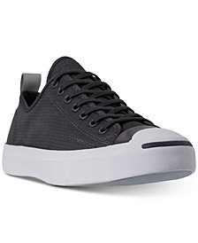Converse Men's Jack Purcell Low Top Woven Textile Casual Sneakers from Finish Line
