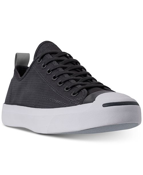 6ea2d703070773 ... Converse Men s Jack Purcell Low Top Woven Textile Casual Sneakers from  Finish ...