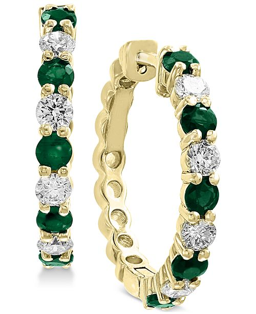 EFFY Collection EFFY® Emerald (1-1/3 ct. t.w.) & Diamond (3/4 ct. t.w.) in 14k Gold