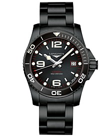 Men's Swiss Automatic HydroConquest Black PVD Stainless Steel Bracelet Watch 41mm, USA Exclusive Edition