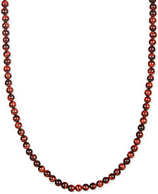 "Esquire Men's Jewelry Red Tiger's Eye Beaded 30"" Necklace, Created for Macy's"