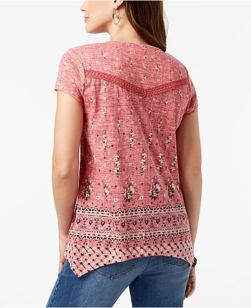 Petite Blossom for Deep Top Crochet Co Style amp; Created Printed Macy's Trim PgqRaEwF
