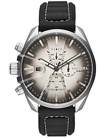 Diesel Men's Chronograph MS9 Chrono Black Silicone Strap Watch 47mm