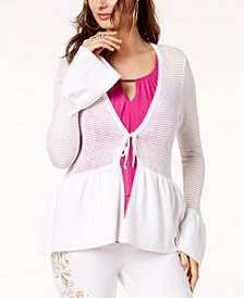 Thalia Sodi Peplum Cardigan, Created for Macy's