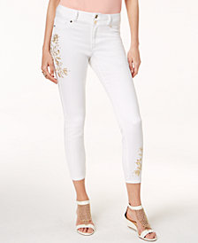 Thalia Sodi Embroidered Skinny Jeans, Created for Macy's