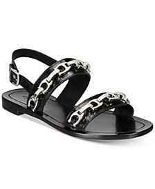 COACH Eden Signature Chain Flat Sandals