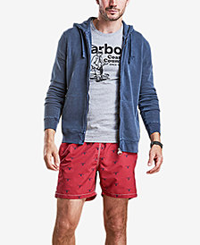 Barbour Men's Beacon-Print Swim Trunks